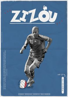 Zidane. Football Legends Posters by Luke Barclay, via Behance