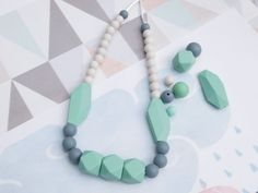 Teething Necklace /Silicone Necklace/ Nursing Necklace, Silicone Beads, Maternity / Silicone Teething / Baby Shower Gift