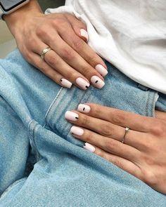 Stylish Nails, Trendy Nails, Classy Nails, Blush Pink Nails, Milky Nails, Subtle Nail Art, Nagellack Design, Fall Acrylic Nails, Oval Nails