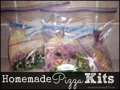 These homemade pizza kits are great to have on hand for those nights when you don't feel like cooking!