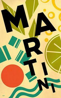 Martini advertising poster