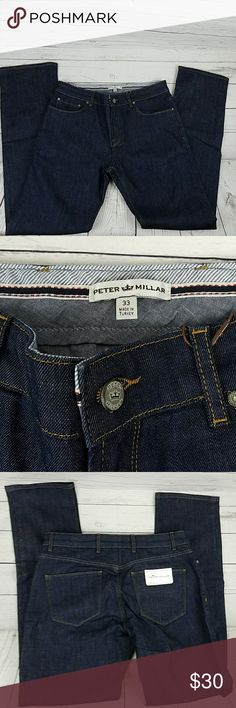 NWT Men's Peter Millar Jean's Straight Leg Size 33 These Men's Peter Millar Jean's are in excellent condition. New with tags. Straight Leg. Size 33 Inseam 33 Rise 10 inches Peter Millar Jeans Straight