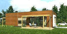"""Duże okno w formie """"skrzyni"""" w elewacji frontowej, to charakterystyczny element tego domu."""