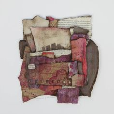 Memories of the woods, 12 x 12 Floating collage- Collage art of Laura Lein-Svencner