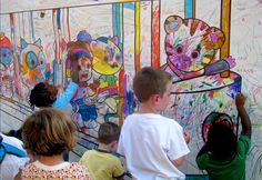 """Making some """"Daniel Tiger"""" art at the National Book Festival  (photo: Jim Miller) #PBS"""
