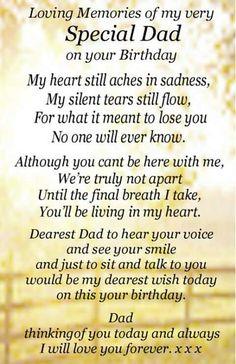 Lost you Dad happy birthday 03/11