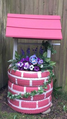 44 creative container gardening flowers ideas decorations 22 is part of Tire garden - 44 creative container gardening flowers ideas decorations 22 Related Tire Garden, Garden Yard Ideas, Diy Garden Projects, Garden Crafts, Diy Garden Decor, Garden Art, Yard Art Crafts, Tire Craft, Backyard Landscaping