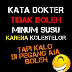 ideas for quotes indonesia lucu humor haha Cartoon Jokes, Funny Cartoons, Foto Meme, Quotes Lucu, Dark Jokes, Funny Quotes, Funny Memes, Spirit Quotes, Quotes Indonesia
