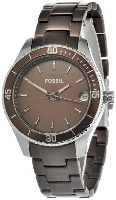 Fossil Women's ES3041 Stella Mini Brown Aluminum and Stainless Steel Watch