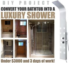 convert your old ugly bathtub into a walk in shower