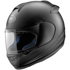 Arai Vector-2 helmet. Intermediate round shape. Lightweight, well ventilated. Nice alternative to the Qwest but a little rounder on top.