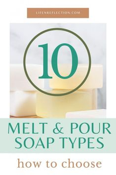Making soap at home is far too fun and creative with a melt and pour soap base! Here's how to choose a melt and pour soap base including a soap making printable for 10 different types of soap base! Coconut Soap, Shea Butter Soap, Soap Making Recipes, Homemade Soap Recipes, Soap Colorants, Glycerin Soap, Soap Supplies, Soap Shop, Olive Oil Soap