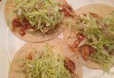 BBQ chicken tacos with Cabbage slaw!  Naturally #glutenfree #dairyfree #wheatfree #realfood