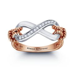 Rose Gold Promise Ring Rose Gold Infinity Ring by 1UPStyleStore