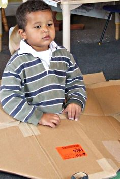What can you do with a cardboard box?