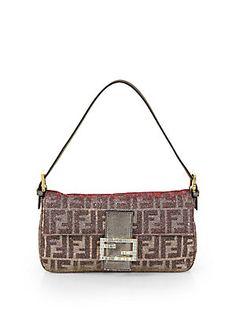 Fendi Metallic Baguette Shoulder Bag