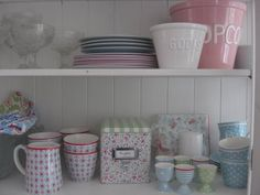 Greengate LOVE COLORS Shabby Chic Kitchen, French Chic, Rustic, Tableware, Colors, Caravans, Tents, Glamping, Kitchens