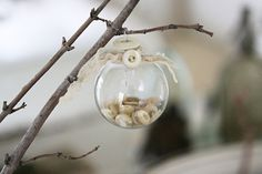 French Larkspur-Button Ornament