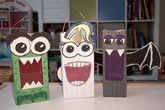 Easy milk carton lanterns for kids; Simple Laternen für Kinder aus Milchkartons