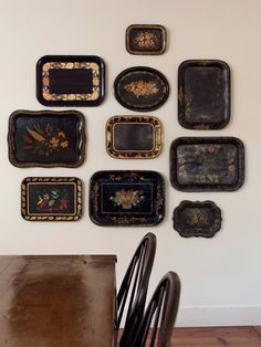 Black Trays as Decor/Remodelista