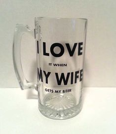 Items similar to I Love My Wife Beer mug. fishing beer mug, golfing beer mug, hunting beer mug, Sports Beer Mug - Funny Beer Mug on Etsy