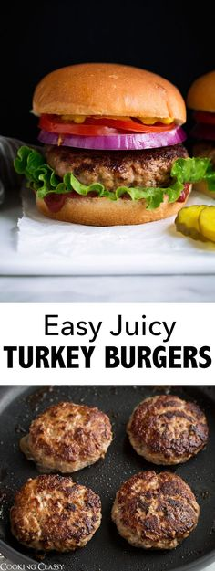 Turkey Burgers Recipe - Cooking Classy