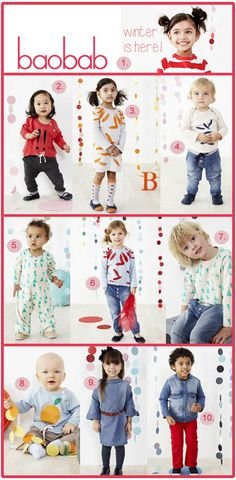 Baobab Baby and Kids Fashion : Autumn/Winter 2014 Collection Now Available + Up To 60% Off Sale Items