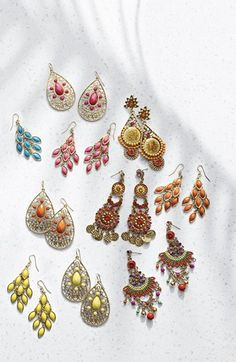 Colorful chandelier earrings. An easy way to add a pop of color to your outfit!