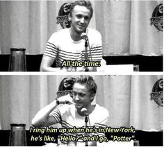 Tom Felton about whether he and Daniel still stay in character