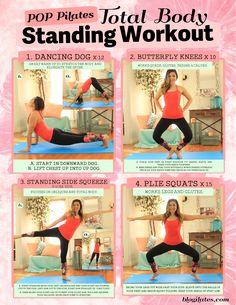 Total Body Standing Workout Printable