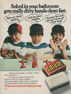 Vintage Solvol Soap Advertisement 1979