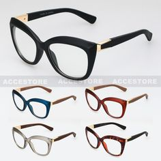 f7dfcda9d3d Retro Vintage Clear Lens Oversized Fashion Cat Eye Women Eye Glasses Nikita   Unbranded  CatEye