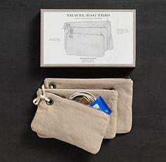 Travel Bag Trio - I want! D Comm organization