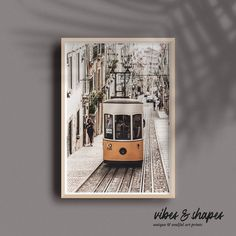Have you ever been to Lisbon? Then you will love this Bestseller-Poster from vibes&shapes. Bring Portugal-Vibes to your Home! #walldecoration #poster #print Lisbon Tram, Magical Home, Shape Posters, Unique Wall Decor, New Perspective, Best Sellers, Portugal, Culture, Shapes