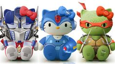 Hello Kitty and TMNT and Gundam.  For the little nerd in you.