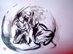 Sumi-e Aikido calligraphy - Aikido Insight Magazine