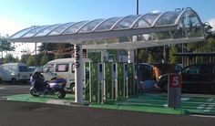 HyER » Green Land Mobility: Lombardy's EV charging points program in shopping center parking areas.