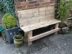 Reclaimed Pallet Outdoor Bench
