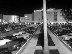 The May Company and The Broadway, at Crenshaw Plaza, at the corner of Crenshaw and Santa Barbara Avenue (Martin Luther King, Jr. Blvd.) Circa, 1949