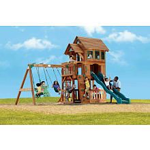 This would be PERFECT in the back field!! - Windsor II Gym Set - Adventure Playsets - Toys R Us