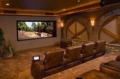 Home theater   A nice big media room. DelChester NARI - 2012 Award Winning Projects