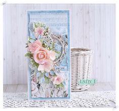 Lady E Design added a new photo. Wedding Cards Handmade, Handmade Flowers, E Design, Cardmaking, Decorative Boxes, Shabby Chic, Scrapbooking, Lady, Inspiration