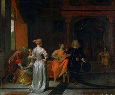 Pieter de Hooch - A Party [1675]   Flickr - Photo Sharing!