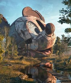 Illustrations of Pop Culture Icons Abandoned in a Post-Apocalyptic World by Filip Hodas Abandoned Theme Parks, Abandoned Amusement Parks, Abandoned Buildings, Abandoned Places, Abandoned Mansions, Urbane Kunst, Cultura Pop, Digital Illustration, Photography Illustration