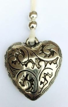Silver Hanging Heart 4.5cm Silver Hanging Heart with hanging ribbon. Price £2.00 each and P&P £1.00 for UK  https://www.facebook.com/Silverlilydesignsuk