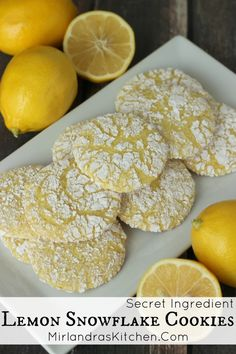 These bold Lemon Cookies have several secret ingredients for powerhouse lemon flavor sure to please any lemon lover. You can't go wrong with this easy classic.