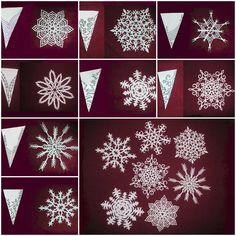 How to make beautiful Snowflakes Paper craft DIY tutorial instructions
