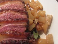 Roast Turnips and Duck with Pear Jus