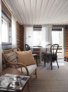 hirsimökin remontti Wishbone Chair, Sweet Home, Relax, Cottage, Cabin, Inspiration, Furniture, Home Decor, Diy