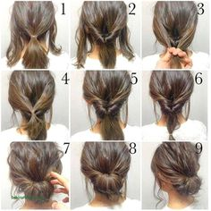 √ Easy Up Hairstyles for Short Hair . 25 Easy Up Hairstyles for Short Hair . Quick Little Girl Hairstyles New Cool Hairstyles for Short Hair Girl Short Hair Styles Easy, Medium Hair Styles, Curly Hair Styles, Natural Hair Styles, Hair Medium, Bun Styles, Up Dos For Medium Hair, Hair Styles Steps, Hair Simple Styles